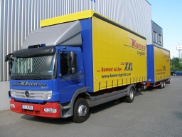 Lorry with trailer - Komm Logistik